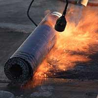 Bitumen Flachdachabdichtung