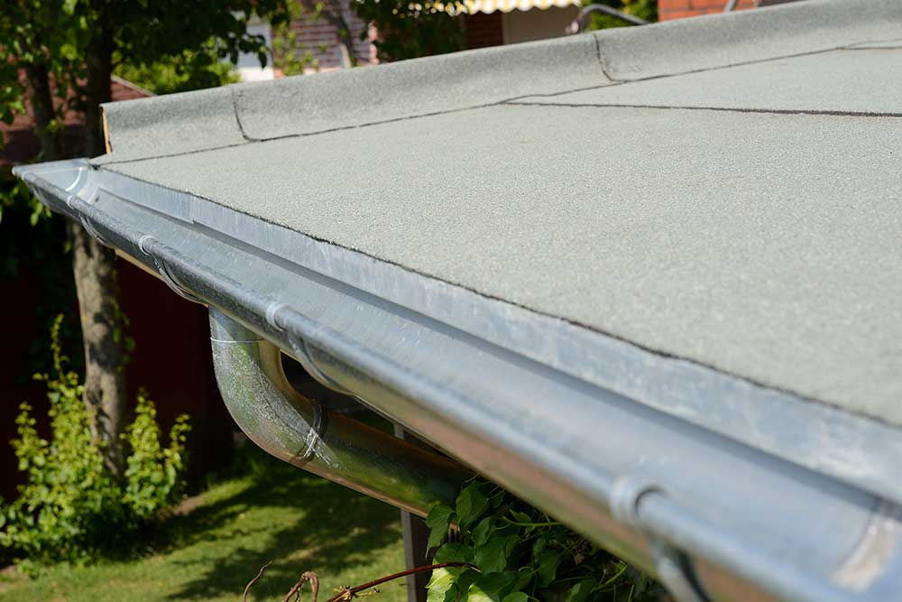 Bitumenabdichtung auf einem Flachdach