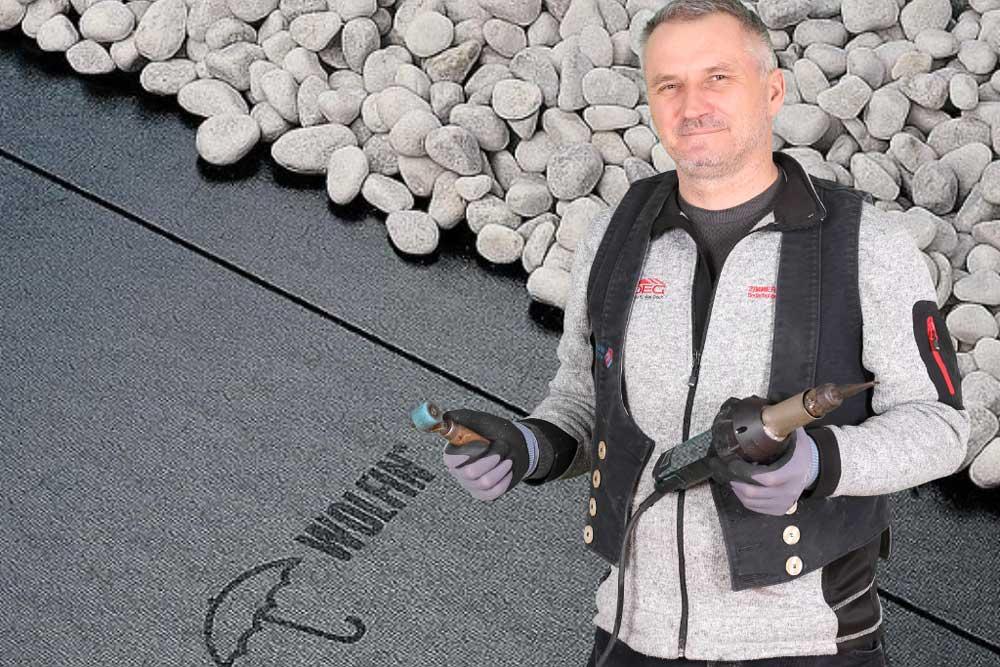 Kunststoffabdichtung geeignet für alle abzudichtenden Falchdächer