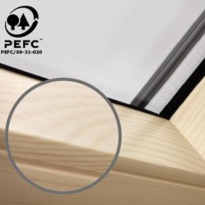Velux Dachfenster Holzqualität pefc