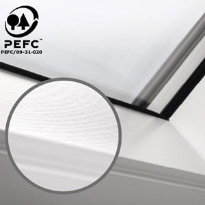Velux Dachfenster Holzqualität weisser Lack pefc