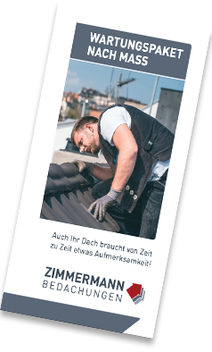 Flyer Dachwartungen Zimmermann Bedachung